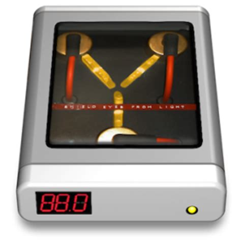 flux capacitor icon spend back to the future day with a flux capacitor time machine other world computing