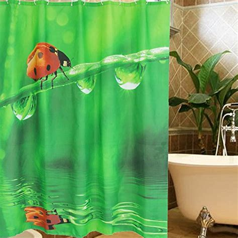 ladybugs in bathroom ladybug shower curtains in standard size or extra long styles