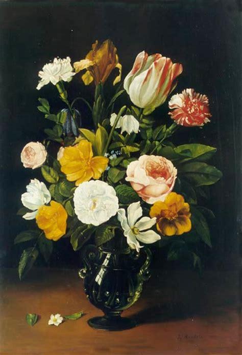 quadri fiamminghi fiori pin natura morta di fiori jehin henri joseph scuola belga
