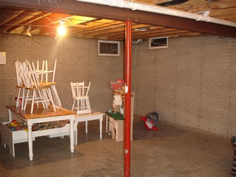 The Yellow Cape Cod: 31 Days of Character Building: DIY Aged Brick Basement Walls