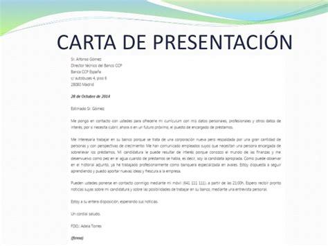 Modelo De Carta De Presentaci N De Un Curriculum hoja de vida carta de presentaci 243 n y entrevista laboral