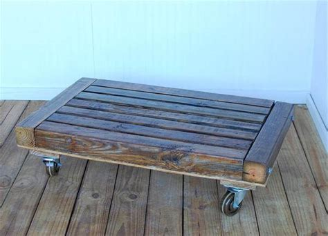 pallet table with wheels diy pallet low coffee table with wheels 101 pallets