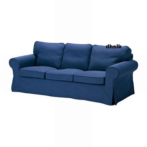 Ikea Ektorp 3 Seat Sofa Cover Slipcover Idemo Blue Bezug Ikea Sofa Covers