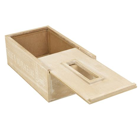 washed wood box l wooden white washed tissue box holder cover dispenser