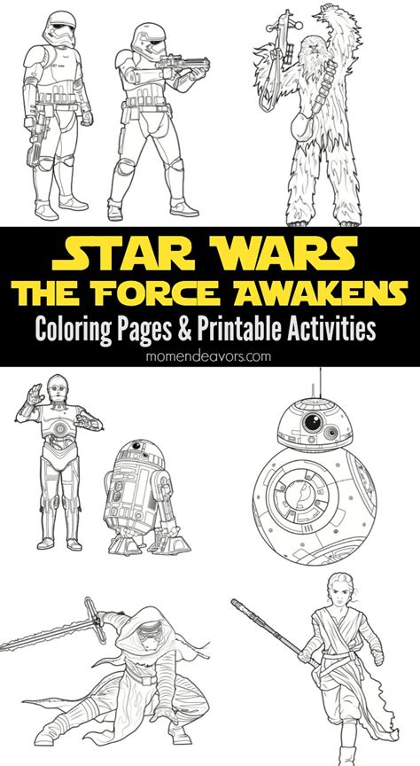 coloring pages for star wars the force awakens star wars the force awakens printable activities