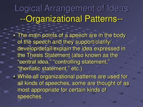 logical organizational pattern ppt logical arrangement of ideas organizational