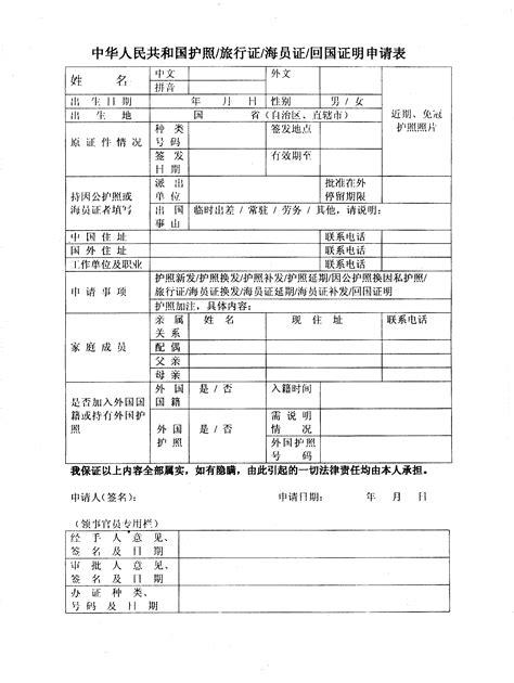 get passport application form