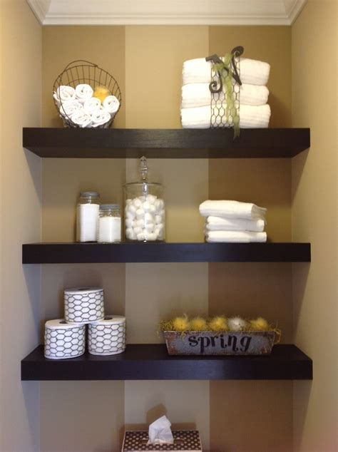 Floating Shelves For Bathroom Floating Shelves Decorated For Decorating The House Pinterest