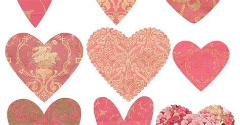 imagenes otoño vintage free valentine hearts for craft or papercraft use from