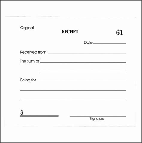 Blank Purchase Receipt Template by 9 Blank Sales Receipt Template Sletemplatess