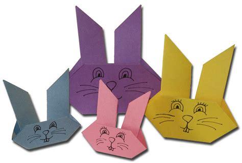 Origami Bunnies - coelhinho de p 225 scoa feito em origami pra gente mi 250 da