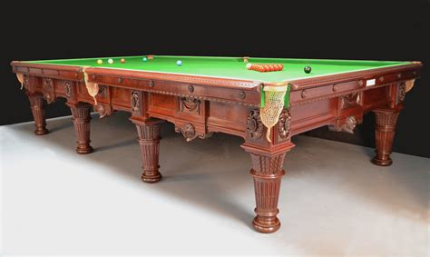 a magnificent decorative antique billiard snooker table