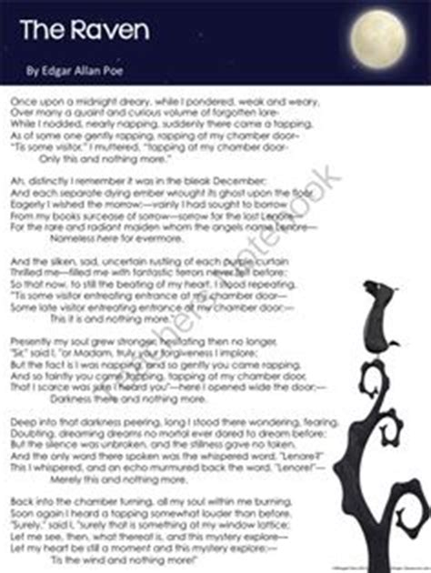 printable version of the raven 1000 images about poetry on pinterest langston hughes