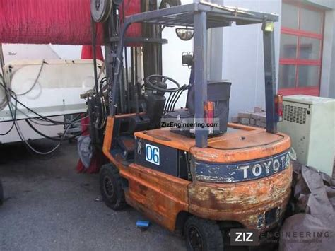 toyota 25 forklift specifications toyota fbm 25 1994 front mounted forklift truck photo and