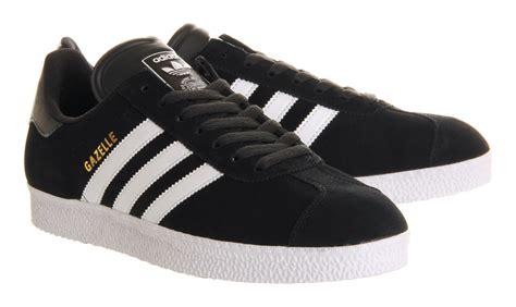Adidas Black lyst adidas gazelle 2 black black white in black for