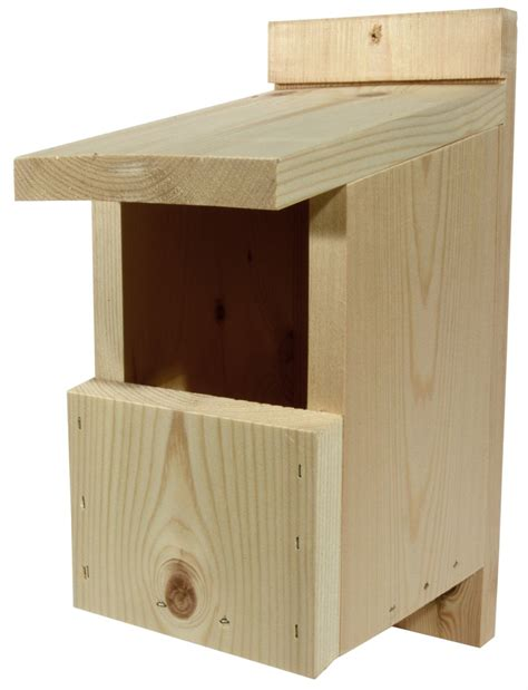 traditional open fronted wooden bird nest box nhbs