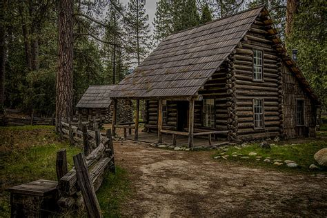 Cabin Yosemite by Yosemite Cabin In The Woods Photograph By Coberly