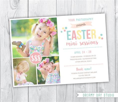 photoshop template easter spring mini session template easter mini session