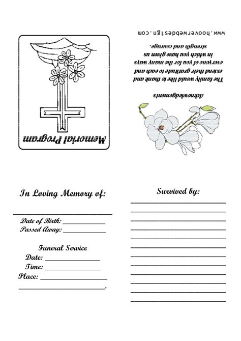 25 unique funeral program template free ideas on pinterest