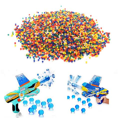 10000 pcs pack guns water gun balls bullet toys after soaking soil water