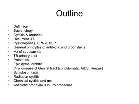 Outline Meaning by Urology Infection Dr Edmond Wong