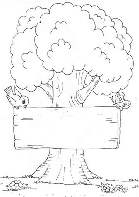 dibujos para cartel dibujo para colorear de dia arbol dibujos de 225 rboles