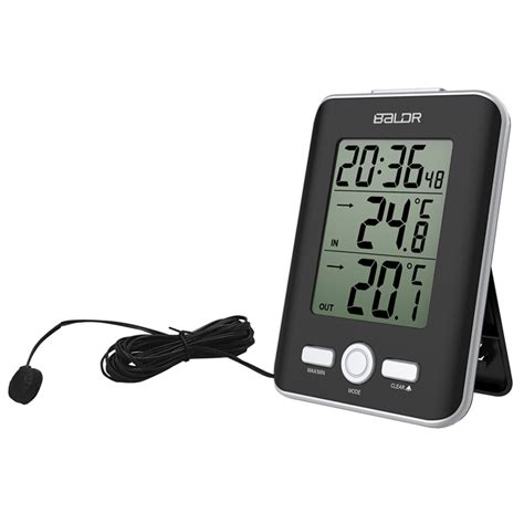 baldr jam alarm led thermometer weather station with probe black jakartanotebook