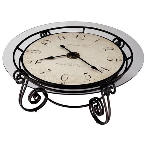 howard miller ravenna coffee table clock 615010
