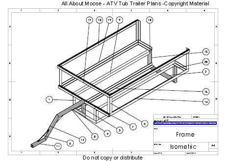 atv frame design download atv trailer plans for a walking beam atv tub trailer