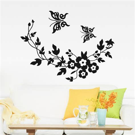 wall stickers for home 3d butterfly flowers wall sticker for room bedroom