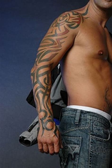 african tribal sleeve tattoos tribal on sleeve
