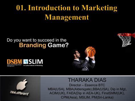 Dias Mba Syllabus by Introduction To Marketing Dsbm 01
