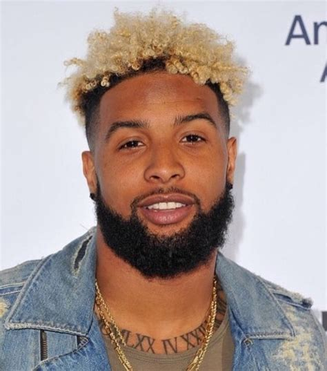 afro taper fade with blonde tip odell beckham haircuts top 15 odell beckham jr haircuts