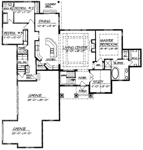 open ranch house plans single story ranch open floor plans google search