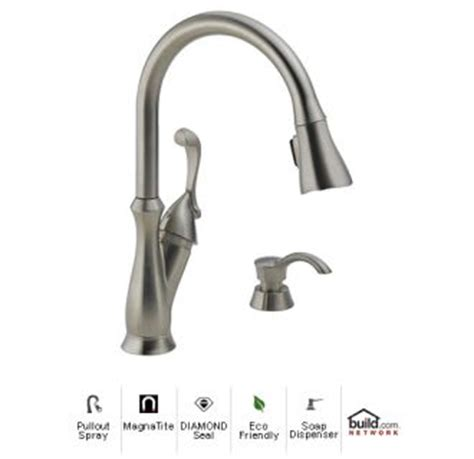 faucet 19950 sssd dst in brilliance stainless by delta