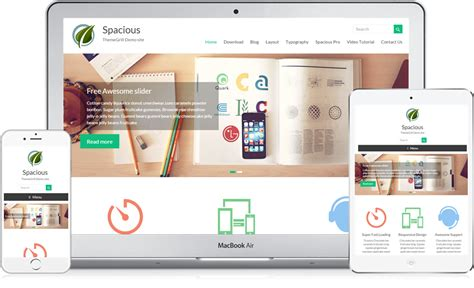spacious free responsive business wordpress theme 2018