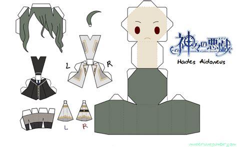 No Papercraft - template kamigami no asobi hades aidoneus by verloria
