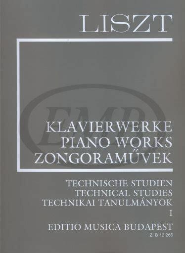 Buku Piano Technical Exercises Franz Liszt fundalmentals of piano technique part 1