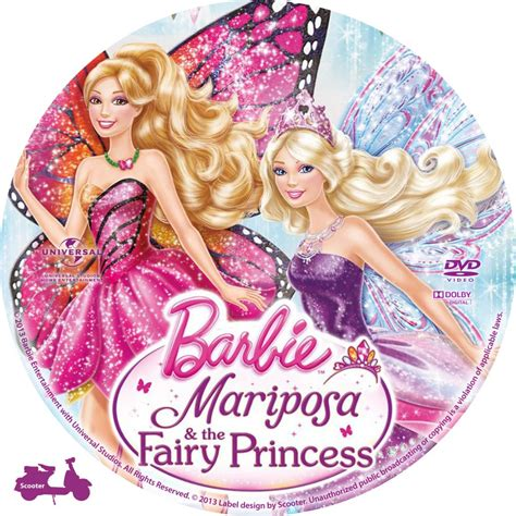nonton barbie mariposa and the fairy princess 2013 film barbie mariposa the fairy princess custom dvd labels