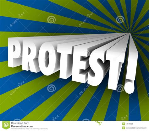 4 Letter Words Out Of Speak protest speak out against injustice 3d word object