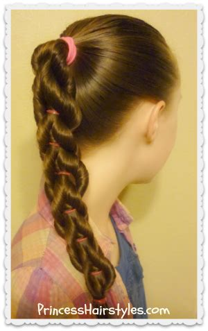 Twisted Braid Hairstyles by Twisted Pull Through Braid Hairstyle Hairstyles For