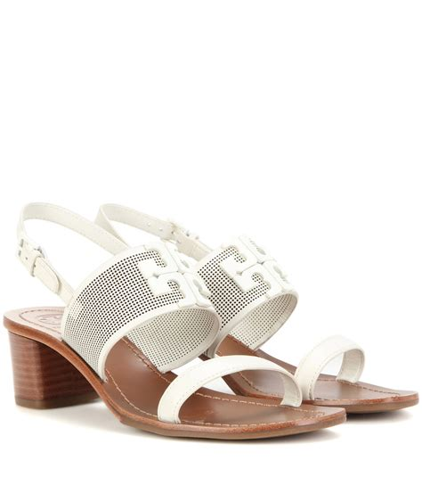 white burch sandals lyst burch lowell leather sandals in white