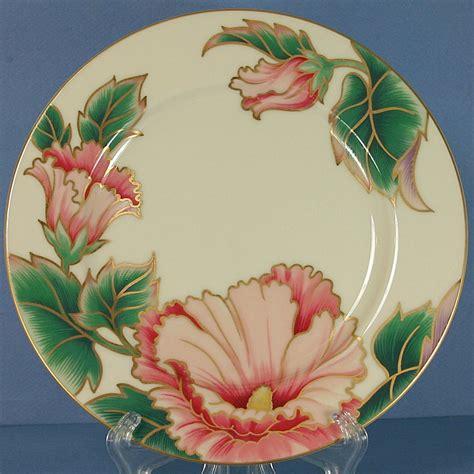 floyd pattern in c fitz floyd hummingbird buff salad plate