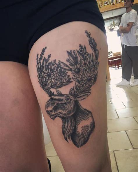 small moose tattoo best 25 moose ideas on