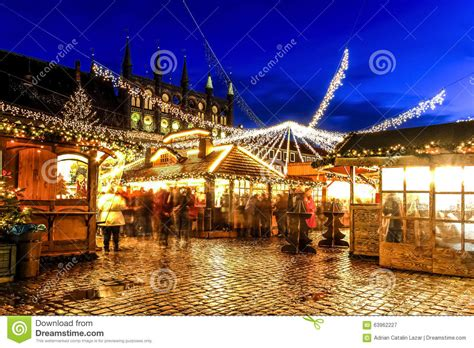 christmas market  lubeck germany editorial photography image