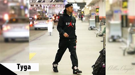 supreme wear wearing supreme x air 5 sneakers with