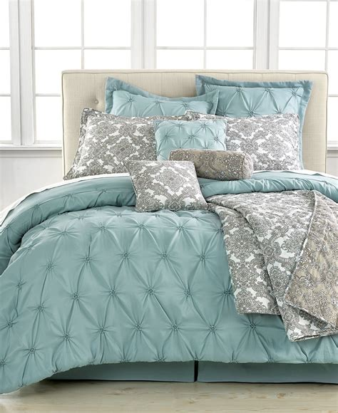 blue bed in a bag jasmine blue 10 piece california king comforter set bed in a bag bed bath macy