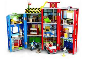 Dollhouses For Boys Kidkraft Everyday Heroes Police And Fire Station S