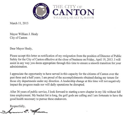 Bittersweet Letter Of Resignation the stark county political report presents quot the ream
