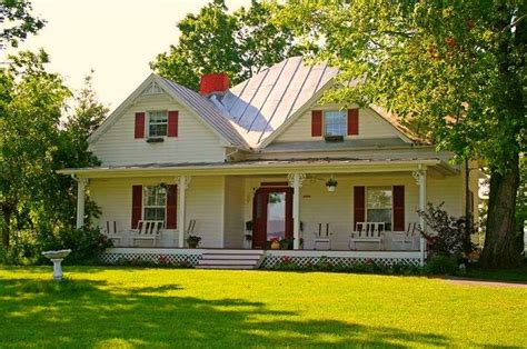 Farmhouse With Wrap Around Porch Plans by Farmhouse With The Red Shutters Welcome Home Pinterest